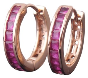 Brand New Pink & Rose Gold Hoop Earrings