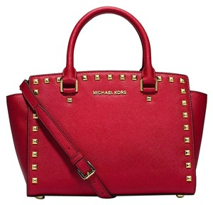 Michael Kors Satchel in chili/gold