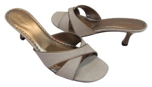 Croft & Barrow New Excellent Condition Neutral, Gold Sandals