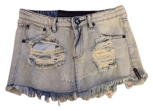 One Teaspoon Mini Mini Skirt washed denim
