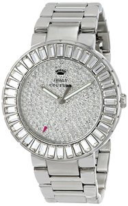 Juicy Couture Juicy Couture Women's Grove Silver Tone Stainless Steel Baguette Crystallized Glitz Watch 1901177