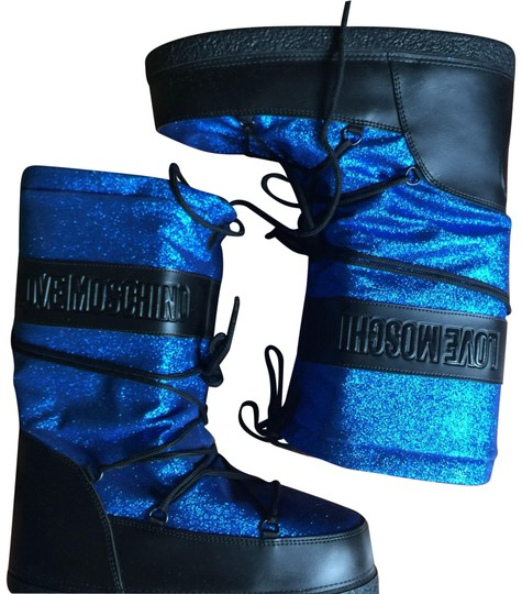 Moschino Black & Blue Boots
