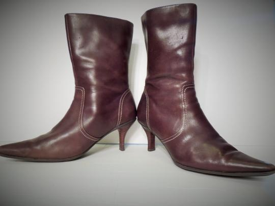 Worthington Women's Leather Size 8-9 Brown Boots