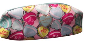 Betsey Johnson Brand new Heart Betsy Johnson cosmetic bag/just marked down sale!
