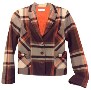 Ben Sherman Brown, Tan, and Orange Blazer