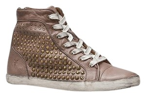 Frye Studded Leather Sneakers Tan Boots