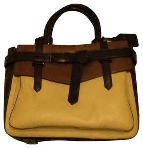 Reed Krakoff Boxer Leather Satchel in Nude/Brown/Chocolate