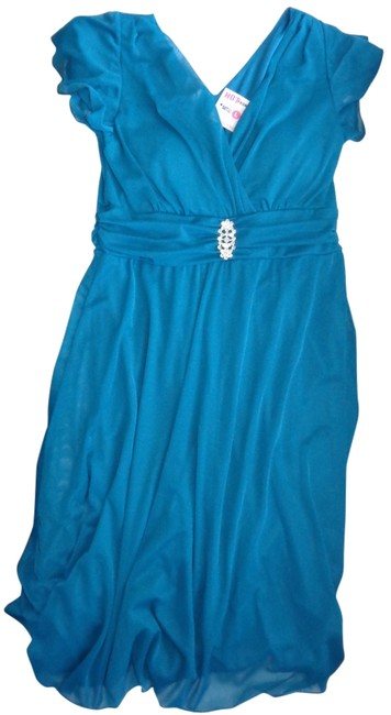 Hot From Hollywood Brand New Teal Maternity Dress