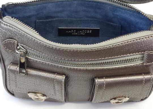 Marc Jacobs Metallic Silver Small Leather Shoulder Bag