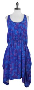Thakoon short dress Blue Purple Print Silk on Tradesy