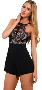 Heart On Fire Romper Lace Night Out Dress