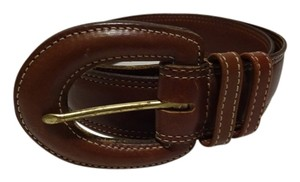 Coach COACH LEATHER BROWN BELT