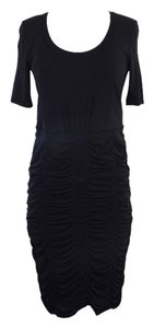 Burberry short dress Black Short Sleeve Gathered on Tradesy