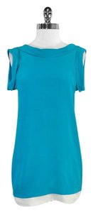 3.1 Phillip Lim short dress Teal Silk Short Sleeve Shift on Tradesy