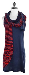 Alexander McQueen short dress Navy Red Striped Sleeveless on Tradesy