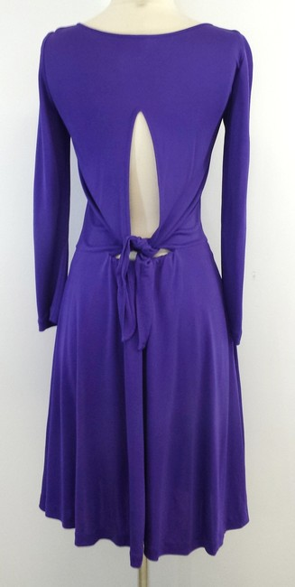 Halston short dress Purple Cut Out Back on Tradesy
