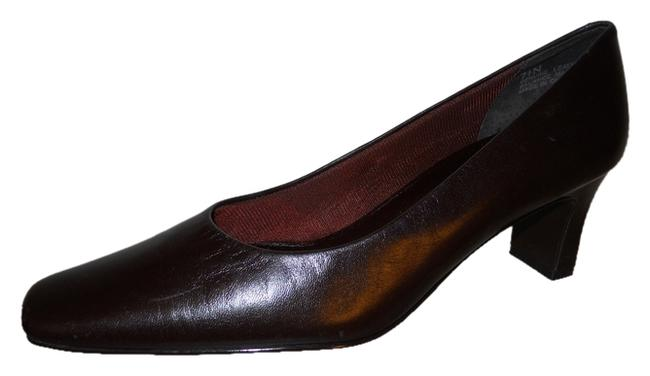 Item - Dark Brown Leather Square Toe Pumps Size US 7.5 Narrow (Aa, N)