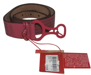 Marithé et François Girbaud vintage Avant Garde Pink striped leather belt