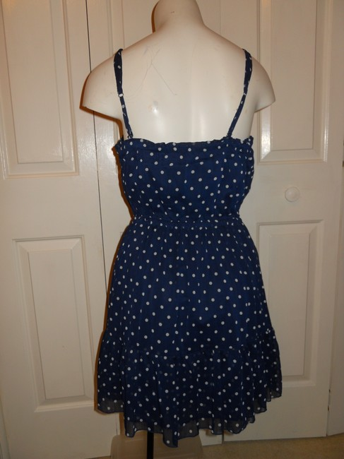 Hollister short dress navy & white on Tradesy