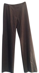 Burberry London Wool Cashmere Trouser Work Wide Leg Pants Gray