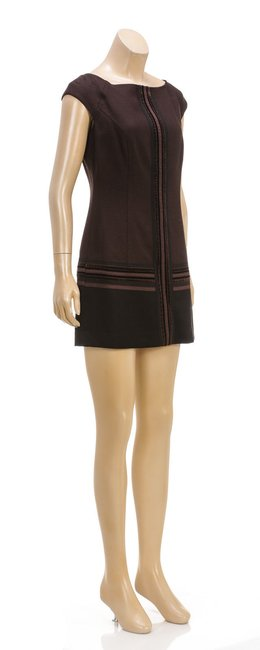 Escada short dress Brown on Tradesy