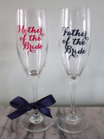 Wedding Champagne Glasses For Parents - Mother And Father Of The Bride And Groom