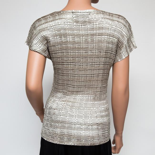 Valentina Stretchy One-size Textured Top Light Gold