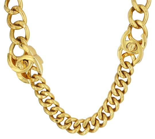 Preload https://item2.tradesy.com/images/chanel-yellow-vintage-gold-plated-curb-chain-adjustable-necklace-bracelet-6003061-0-0.jpg?width=440&height=440