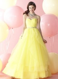 Alfred Angelo Yellow Prom Dress