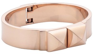 Michael Kors MKJ2910 Michael Kors Women Pyramid Bangle Bracelet Rose Gold Tone Steel