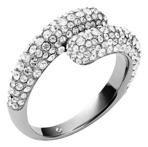 Michael Kors MKJ3681 Michael Kors Brilliance Statement Ring Silver Tone Crystal Pave Size 6