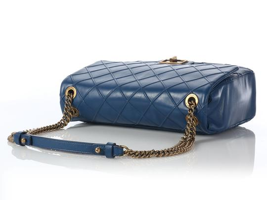 Chanel Dark Blue Cosmo Ch.j0626.09 Lambskin Cross Body Shoulder Bag