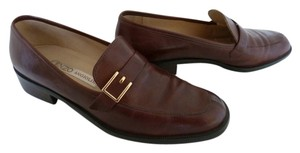 Enzo Angiolini Classic Leather Loafers Brown Flats