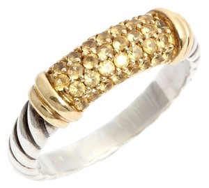 David Yurman DAVID YURMAN NARROW YELLOW SAPPHIRE METRO RING