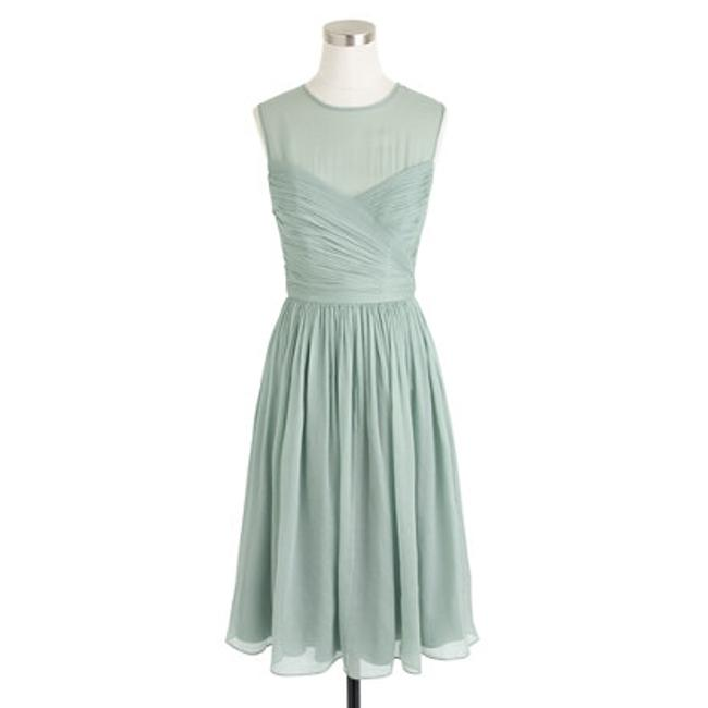 Item - Dusty Shale (Green) Silk Chiffon Clara In Feminine Bridesmaid/Mob Dress Size 12 (L)