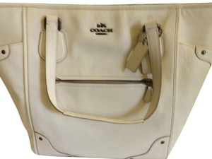 Coach F34039 Qbchk Tote in CREAM, BEIGE