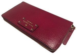 Kate Spade Neda Red Plum Clutch