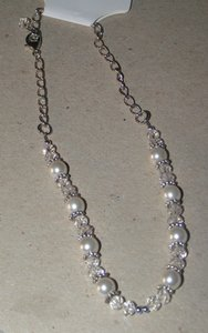 White/Clear/Silver Bogo Boot Anklet Free Shipping Bracelet