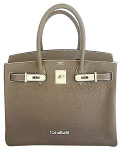 Herms Hermes Clemence Satchel in Etoupe