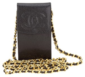 Chanel Chanel Black Caviar Small Pouch on Chain
