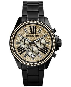 Michael Kors Michael Kors Women's MK5961 Wren Analog Display Analog Quartz Black Watch