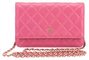 Chanel Chanel Rose Lambskin Single Flap WOC Wallet on Chain Bag (Authentic Pre Owned)