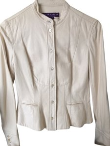 Ralph Lauren Collection Leather ivory Leather Jacket