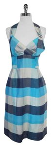 Nanette Lepore short dress Blue Print Halter on Tradesy