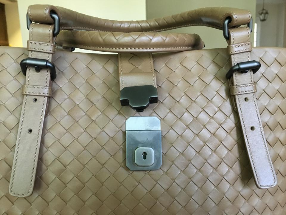 Leather Tote Camel Bottega Veneta Roma Intrecciato ZqIIz7