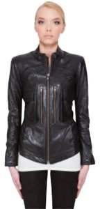 Theory Moto Black Leather Biker Theyskens'Theory Black Leather Jacket