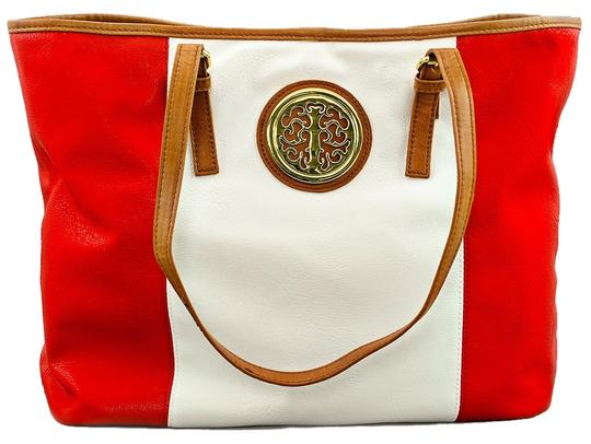 Other Large Medallion Striped Tote in Red