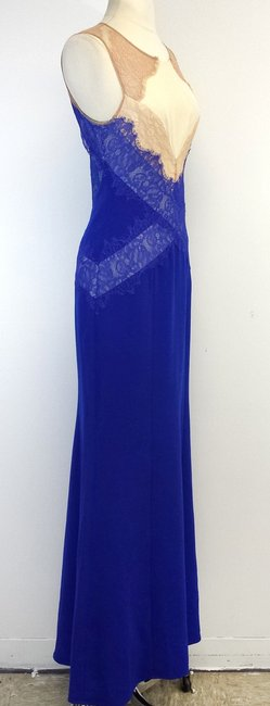Other Cobalt Nude Lace Gown Dress