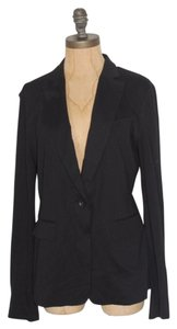 BCBGMAXAZRIA Draped Back Black Blazer