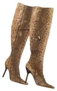 Gucci Snakeskin Tom Ford Thigh High Multi-color Boots